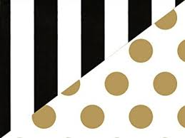 black and white striped wrapping paper black white stripe gold polka dot reversible wrapping