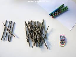learn with play at home counting and grouping with sticks