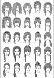 printable hairstyles for women women s hair set 3 by dark sheikah on deviantart
