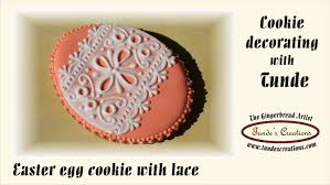 Easter Icing Decorations by Easter Egg Cookie With Lace Youtube