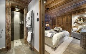 Open Bathroom Bedroom Design by Lavish Petit Chateau 1850 Chalet In Courchevel 8 For The Home