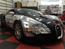 buggati veyron wrapped in chrome car chat with auto supershield