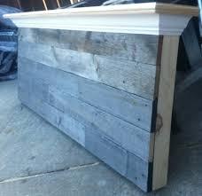 queen size barn wood headboard hometalk