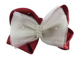 tulle hair bows flower girl custom hair bows
