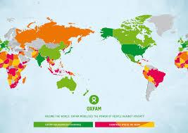 New Zealand On World Map by Oxfam International Oxfam Nz