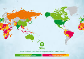 New Zealand On A World Map by Oxfam International Oxfam Nz