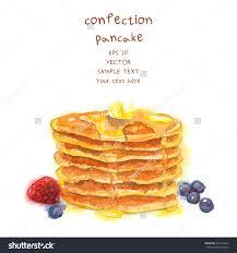 cr駱ine cuisine 手绘煎饼 watercolor style食品设计矢量图 背景 素材 食品及饮料 海洛