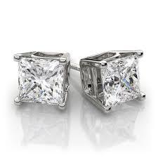 diamond stud earring diamond earrings excellent princess cut russian lab diamond