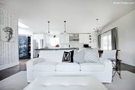 White Slipcover Couch Mixing Kids And White