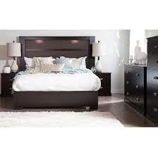 gloria platform bed integrated lighting headboard queen south
