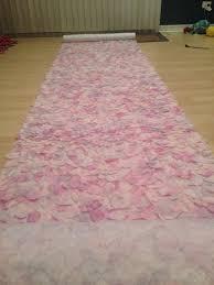 petal aisle runner my diy petal aisle runner and table numbers weddingbee