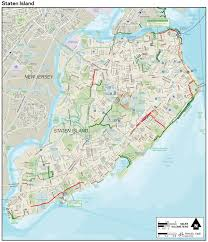New York Maps by Large Detailed Staten Island New York Bike Map Large Detailed