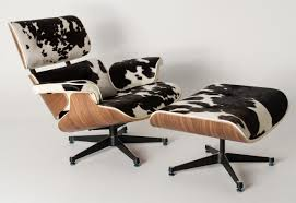 Black And White Chair And Ottoman Design Ideas Furniture Astonishing Authentic Eames Lounge Chair And Ottoman