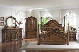 Zelen Bedroom Set King Four Post Bed Juararo Bps 4pc Poster Bedroom Set In Dark Brown