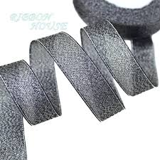 glitter ribbon wholesale aliexpress buy 3 4 20mm black metallic glitter ribbon