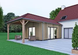 modele de terrasse couverte extension de maison traditionnelle pour agrandir sa maison