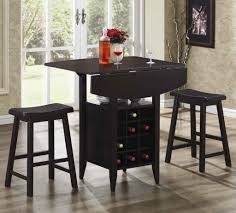 uncategorized vintage oak bistro table bar stools with leather