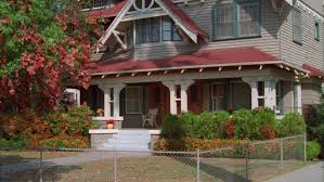 Two Story Craftsman by Day Two Story House Three Story House Attic Craftsman Wood Red