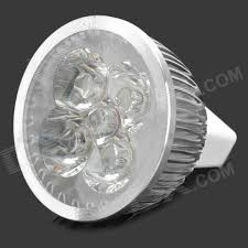 cheap mr16 4 led 360 lumen 3500k warm white light bulb 12v