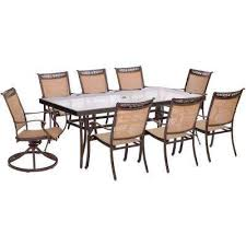Glass Top Patio Dining Table 8 9 Person Rectangle Glass Patio Dining Furniture Patio