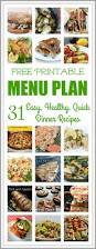 easy and healthy dinner meal plan a month of recipes