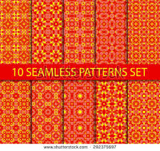 set geometric seamless patterns ten modern stock vector 293264411