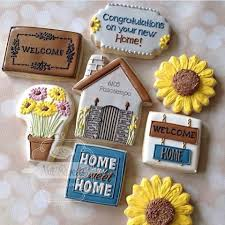 Housewarming Cookies 36 Best Cookies Home Sweet Home Images On Pinterest Decorated
