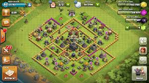big clash of clans base easy way to help upgrade your rushed clash of clans base