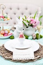 easter table decoration bright colorful easter table decor ideas with pops of gold
