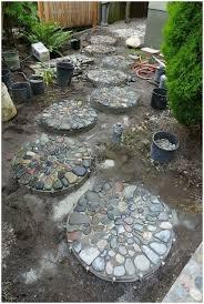 backyards bright pebble mosaic stepping stones by jeffrey bale
