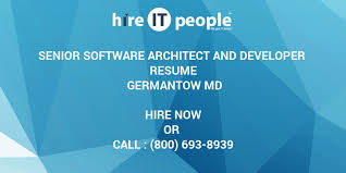Resume Software Architect Senior Software Architect And Developer Resume Germantow Md Hire