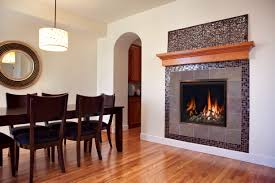 Dining Room With Fireplace by Fireplace Creative Interior Design With Montigo Fireplace For