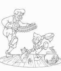 pinocchio family dance coloring