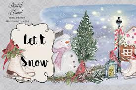 vw snowman watercolor christmas clipart christmas cardinal snowman