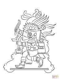 quetzalcoatl aztec god coloring page free printable coloring pages
