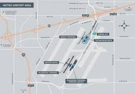 detroit metro airport map getting around detroit metro airport visitdetroit com