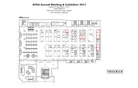 san francisco floor plans exhibitors 2017 apsa annual meeting
