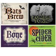 8 best images of halloween food label template halloween food