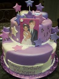 mymonicakes justin bieber cake with stars and microphone