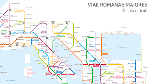 Roman Map What The Roads Of Ancient Rome Would Look Like As A Modern Transit