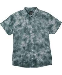 check dye short sleeve tie dye shirt rvca