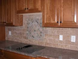 Backsplash Subway Tiles For Kitchen Kitchen Subway Tiles With Mosaic Accents Backsplash Tumbled Tile