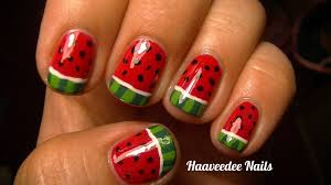 watermelon nail art youtube