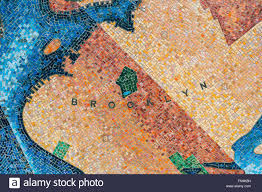 Wall Map Of New York City by Mosaic Map Western Wall Of New York By The Artist Edward