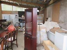 Mahogany Display Cabinets With Glass Doors by Mahogany Display Cabinet Ebay