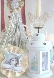 diy vintage shabby shic tree ornaments hometalk