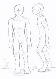 sketch of the human body male post apo human body sketch