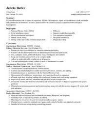 Electrician Apprentice Resume Sample by Download Electrician Resume Sample Homely Ideas Electrician