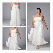 casual beach wedding dresses plus size