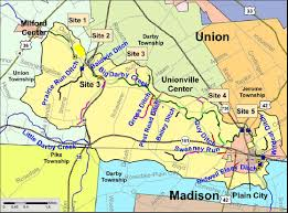 Ohio Map Of Cities by Big Darby Creek Milford Center To Plain City Pictures Map